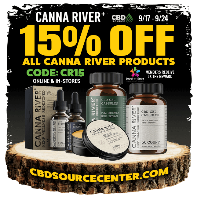 Canna River 15% off all products 9/17th- 9/24th  code: CR15
